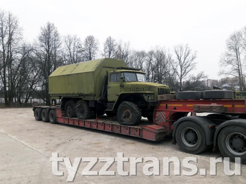 Перевозка военной техники по России